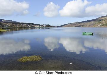 Llyn Padarn in Gwynedd North Wales UK