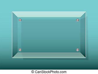 Glass Plaque