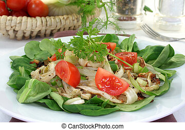 Fennel salad - Salad of roasted fennel with tomato and...