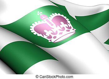 Flag of Charlottetown. Close up.