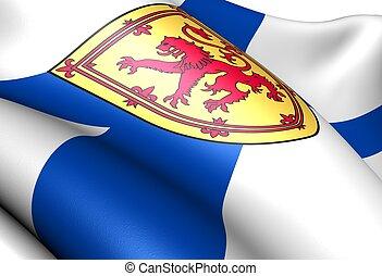 Flag of Nova Scotia. Close up.