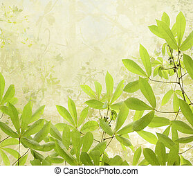 Summer Leaves Digital Painting Background