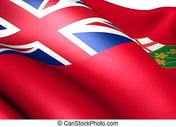 Flag of Ontario Close up