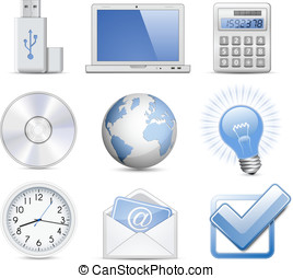 Universal Web Icon Set - Office. Highly detailed vector...