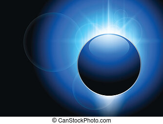Abstract background blue glowing, vector.