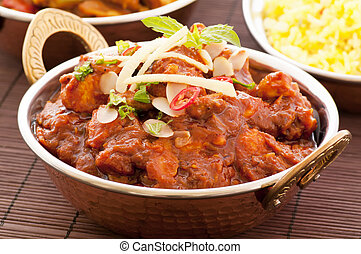 Chichen Madras with Rice