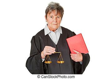 Female lawyer - isolated on white background