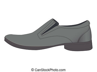 Mans shoes - Illustration of one shoe on a white background