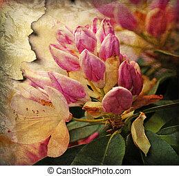 Floral Background - Grunge Floral background illustration...