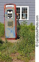 single vintage gas pump - rural single vintage gas pump