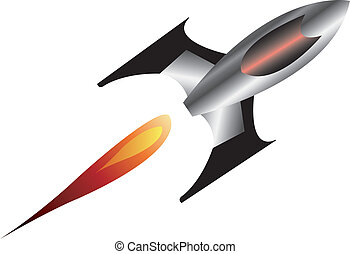 Spaceship - Vector illustration of a rocket or space ship...