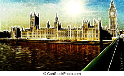Artistic Impression Westminster Palace London - Artistic...