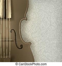 résumé, grunge, musique, fond, violon