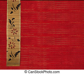 flower bamboo banner background - Flower bamboo banner on...