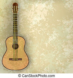music grunge background acoustic guitar