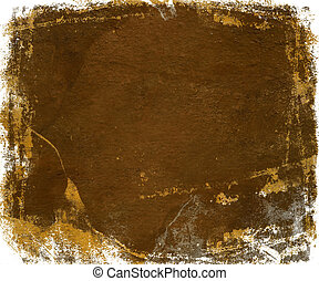 rust gloss paint with grunge feather edge isolated - rust...