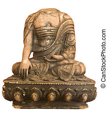 Buddha headless isolated - Image of Buddha headless isolated...