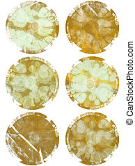 Burned brown textured web elements - Burned brown textured...