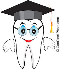 Wisdom tooth - Perfectly executed symbolical image of a...