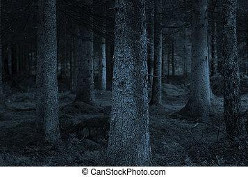 azul, bosque