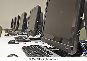Row of computers