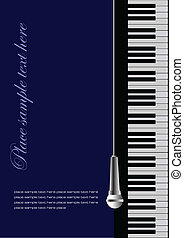 Piano with microphone