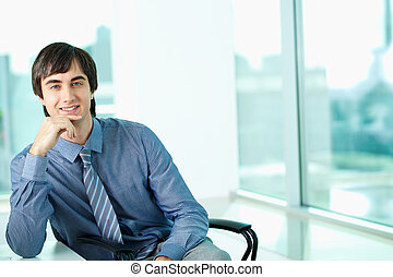 White collar worker - Portrait of confident man in office