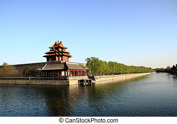 The corner tower of forbidden city - Corner towers of the...