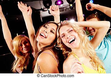 bailando, fiesta