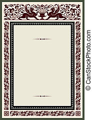 Vintage frame for certificate, awards or diploma template...