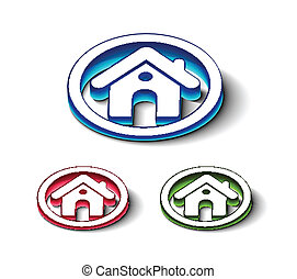 3d glossy home icon