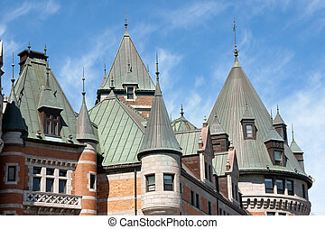 Chateau Frontenac in Quebec City - Detail of the historical...