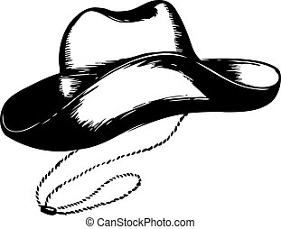 Cowboy hat on white.Vector graphic illustration