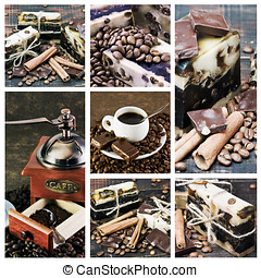 collage handmade soap - collage on the theme of coffee and a...