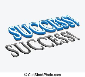 3d vector success text design