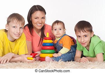 happy family play