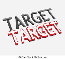 3d vector target text design