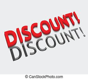 3d vector discount text design