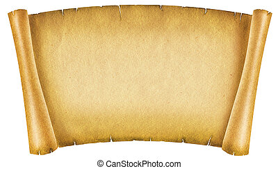 Old paper textureAntique background scroll for text on white...
