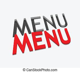 3d vector menu text design