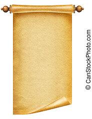 vieux, papier, texture, antiquité, fond, rouleau,...