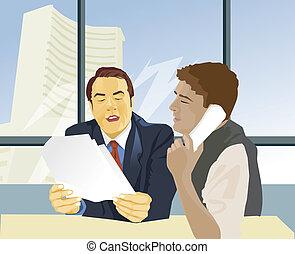 Stock exchange broker calling