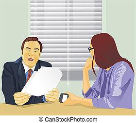 Side view of businesswomen in office