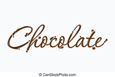 Chocolate text made of chocolate vector design element