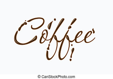 Coffee text made of chocolate vector design element.