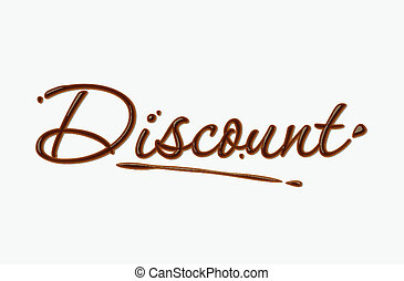 chocolate discount text - Discount text made of chocolate...