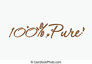 Chocolate 100% text made of chocolate vector design element.