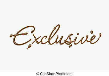Chocolate exclusive text made of chocolate vector design...