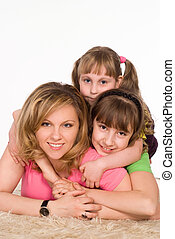 mom with her children
