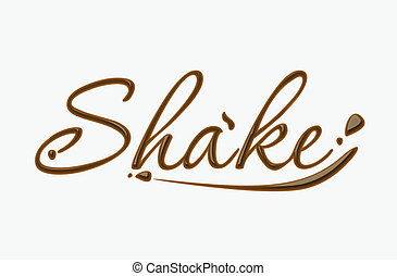 Chocolate shake text made of chocolate vector design...
